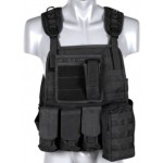 VESTA TACTICA PLATE CARRIER HARNESS BLACK